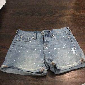Madewell denim shorts size 25